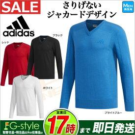 【FG】【50%OFF・セール】秋冬モデル アディダス ゴルフウェア CCS50 JP CP ジャカード Vネック セーター (メンズ)