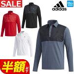 2018年秋冬新作アディダスゴルフウェアCCS52JPCPコンビネーショL/Sシャツポロシャツ(メンズ)