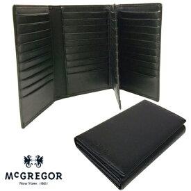 【キャンペーンエントリーでポイント最大26倍!】 特典付 正規品 ポイント10倍 [マックレガー] McGregor 二つ折り財布 カードケース 50枚収納 22046 yama17