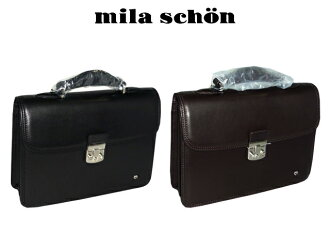 -Pull the Rakuten Eagles in Japan sale, Rakuten Japan sale million mila schon's fee free made in Japan MADE IN JAPAN kipskin second bag locksmith business bag with 30 cm size leather black ( black) black-chocolate 193514