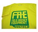 F-H-E Tシャツ 黄【Tシャツ】【フィールドホッケー 】【ドライTシャツ】【吸汗速乾】