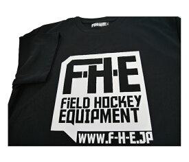 F-H-E Tシャツ 黒【Tシャツ】【フィールドホッケー 】【ドライTシャツ】【吸汗速乾】