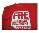 F-H-E Tシャツ 赤【Tシャツ】【フィールドホッケー 】【ドライTシャツ】【吸汗速乾】