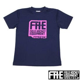 F-H-E Tシャツ 紺ピンク【Tシャツ】【フィールドホッケー 】【ドライTシャツ】【吸汗速乾】