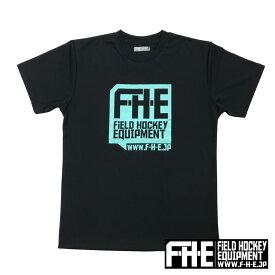 F-H-E Tシャツ 黒ティール【Tシャツ】【フィールドホッケー 】【ドライTシャツ】【吸汗速乾】