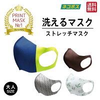 洗えるマスク2枚セット大人用洗濯可能水着素材やわらかいストレッチ3D立体マスクプリントマスク伸縮花粉症ほこりウイルス対策飛沫予防送料無料