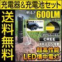 【電池・充電器セット】LED懐中電灯 懐中電灯 フラッシュライト ハンディライト 600lm THE WORLD fl-s027