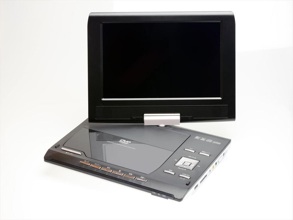 9インチフルセグ ポータブルバッテリー内蔵DVDプレーヤー CPRM対応