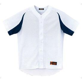 ジュニア ユニフォーム コンビネーションシャツ Sホワイト×ネイビー ( JDB43M-SWNV / DES10349918 )【 デサント 】