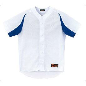 ジュニア ユニフォーム コンビネーションシャツ Sホワイト×ロイヤル ( JDB43M-SWRY / DES10349922 )【 デサント 】