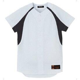 ジュニア ユニフォーム コンビネーションシャツ Sホワイト×ブラック ( JDB48M-SWBK / DES10349938 )【 デサント 】