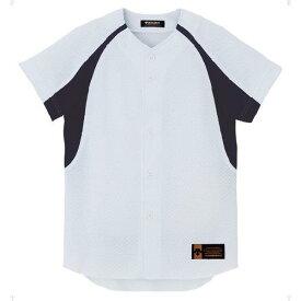ジュニア ユニフォーム コンビネーションシャツ Sホワイト×ネイビー ( JDB48M-SWNV / DES10349942 )【 デサント 】
