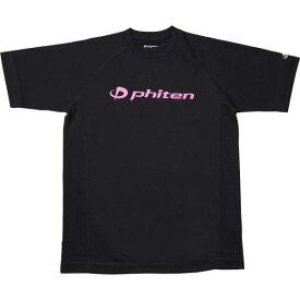 JG167105 RAKUシャツ SPORTS 吸汗速乾 半袖 ロゴ入り ブラック(ロゴ:ピンク) L (PTN10367914) 【 ファイテン 】【QCA04】