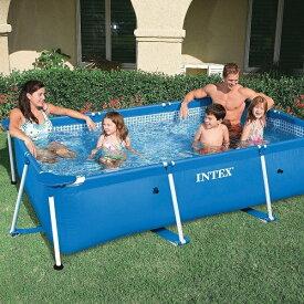 プール 家庭用 水遊び インテックス レクタングラフレーム プール 220x150x60 ( CAG10381231 / U-28270 )【QCA04】