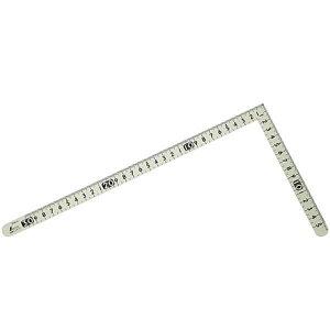12476 曲尺小型 サンデー 白色30×15cm (SSO10388329) 【 シンワ測定 】【QCB02】