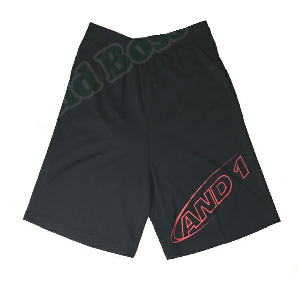 71201-83 OUTLINE HOOK SHORT Black / Red (ANO10392804) 【 AND1 】【QBI07】