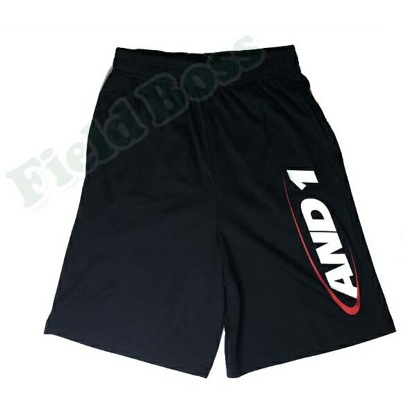 71202-81 ORIGINAL HOOK LOGO SHORT Black/White / Red (ANO10392808) 【 AND1 】【QBH33】
