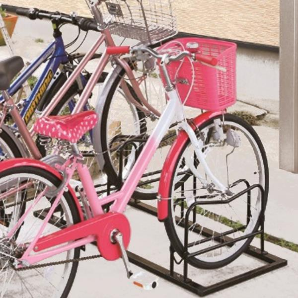 Y-3527 自転車駐輪スタンド3台用(ブラック) (CAG10402014) 【 キャプテンスタッグ 】【QBI23】