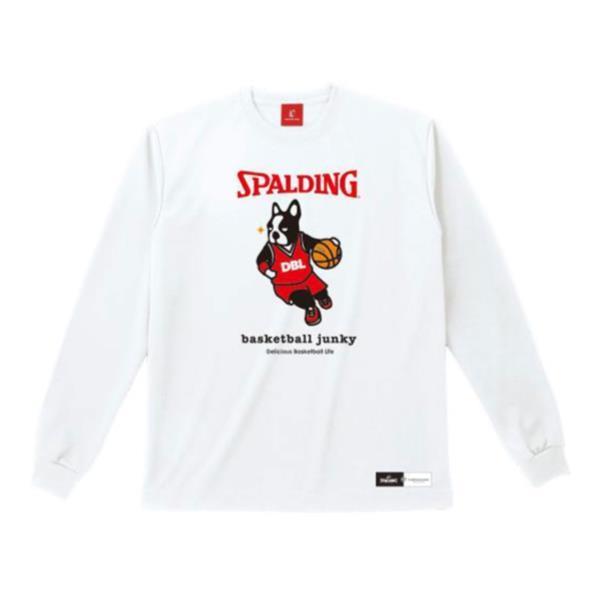 バスケ スポルディング BSK17613-2000 L/S Tシャツ ハンゲキ+1 ホワイト/2000 (SP10537331) スポルディング バスケ QBI07【QBI35】