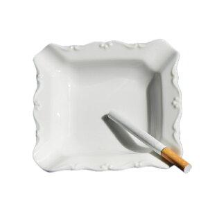 灰皿 白 HZW-3101 スクエアアッシュトレー (YAK10553035) 【灰皿 皿 プレート 白 陶器 おしゃれ 白い器 】【QCB02】