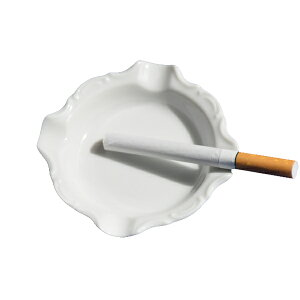 灰皿 白 HZW-3103 ミニアッシュトレー (YAK10553036) 【灰皿 皿 プレート 白 陶器 おしゃれ 白い器 】【QCB02】