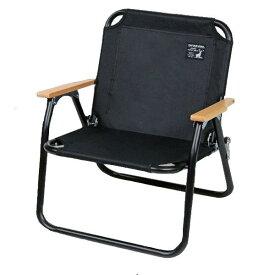 いす 椅子 ベンチ チェア 折り畳み キャンプ バーベキュー BBQ キャプテンスタッグ ブラックラベル ロースタイル ソロ ベンチ ( CAG10553737 / UC-1677 )【QCA41】