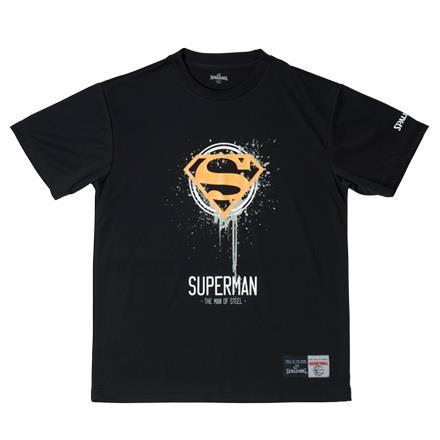 SMT181260-1000 Tシャツ SUPERMAN MOS BLACK (SP10616239) 【 SPALDING 】