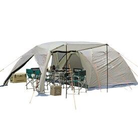 キャンプ テント 大型 テント 折りたたみ ファミリー ツールーム ドームテント キャプテンスタッグ モンテ スクリーン 5〜6人用 ( UA-0044 )【QCB02】