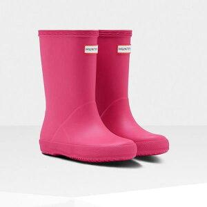 長靴 ブーツ レインブーツ レインシューズ 子供 雨具 ハンター キッズ KFT5003RMA-RBP-11 KIDS FIRST CLASSIC BRIGHT PINK 11 ( HUN10721865 ) 【 ハンター 】【QCB27】