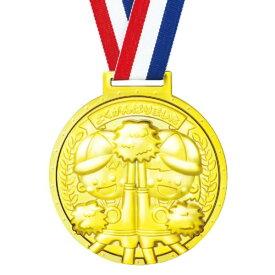 メダル 幼稚園 運動会 メダル プレゼント 運動会 #4691 ゴールド3Dスーパービッグメダル なかよし【AC】【QCB27】