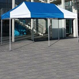 テント 大型 テント イベント 運動会 S-8759BW かんたんてんと3 KA/5W ホワイトxブルー送料【お見積】【SWT】【QCA04】