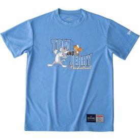 バスケ Tシャツ バスケウェア バスケ 半袖 Tシャツ トムandジェリー サックス/5200【SP】【QCA04】
