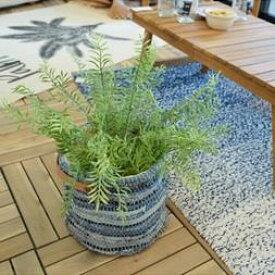東谷 植物 飾り TTZ-522 ファブリックプランター【AZM】【QBJ38】