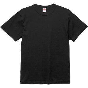 Tシャツ 無地 Tシャツ 黒 半袖 無地 6.0オンス オープンエンド バインダーネック Tシャツ S-XL ブラック 【UNA】【QCB02】