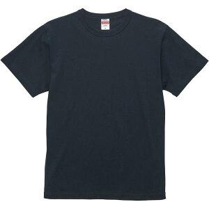 Tシャツ 無地 カラーTシャツ 半袖 無地 6.0オンス オープンエンド バインダーネック Tシャツ S-XL ディープネイビー 【UNA】【QCB02】