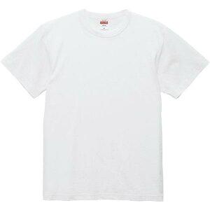 Tシャツ 無地 白Tシャツ 半袖 無地 6.0オンス オープンエンド バインダーネック Tシャツ ホワイト S-XL ホワイト 【UNA】【QCB02】