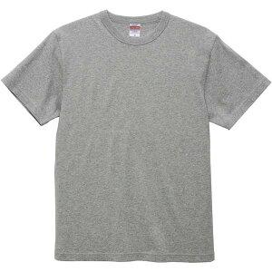 Tシャツ 無地 カラーTシャツ 半袖 無地 421001CX-714-XXL 6.0オンス オープンエンド バインダーネック Tシャツ XXL ヘザーグレー 【UNA】【QCB02】