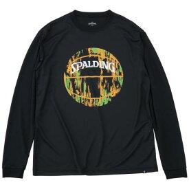 ロングTシャツ バスケ バスケTシャツ バスケウェア SMT191210-1072-L L/S Tシャツ マーブルボール ブラックxオレンジ/1072 L 【SP】