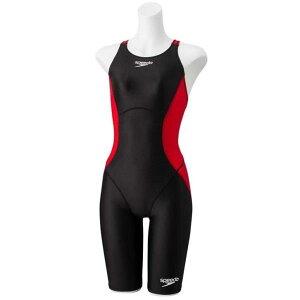 水着 女子 競泳水着 女の子 FINA承認 FLEX A S-OP KNEE レッド 【JSS】