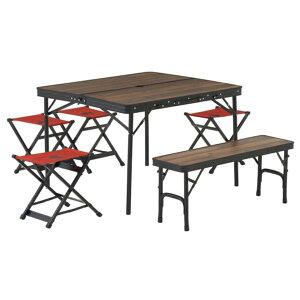 テーブル おしゃれ 椅子 セット テーブルセット 73188034 Tracksleeper ベンチandチェアテーブルセット6 【HN】【QCB27】