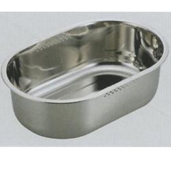 アクアシャイン ステンレス製スリム小判型洗桶37.5×25.5cm (AP42921/H-6273) ( キャプテンスタッグ )【QBI25】