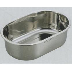 アクアシャイン ステンレス製スリム小判型洗桶37.5×25.5cm(ゴム足付) (AP42923/H-6298) ( キャプテンスタッグ )【QBI07】