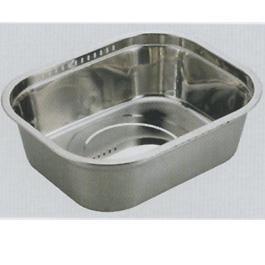 アクアシャイン ステンレス製角型水切洗桶36.5×29.5cm(ゴム足付) (AP42925/H-6297) ( キャプテンスタッグ )【QBI25】