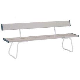 ベンチ 長椅子 パイプベンチ パイプいす 応援 グラウンド プール ベンチ 椅子 イベント ベンチYB-70ZC(座部:グレー、フレーム:白)EKA675 特殊送料:ランク【F】【ENW】【QBJ38】