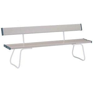 ベンチ 長椅子 パイプベンチ ベンチYB-70ZC(座部:グレー、フレーム:白) EKA675 特殊送料【ランク:F】 【ENW】 【QCB02】