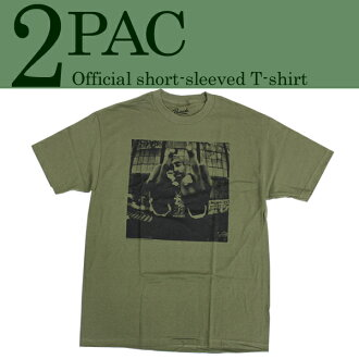 2PAC PHOTO TEE toe pack photoshort-sleeved T-shirt olive men fashion American casual street rood skating photo T-shirt monochrome half T-limited