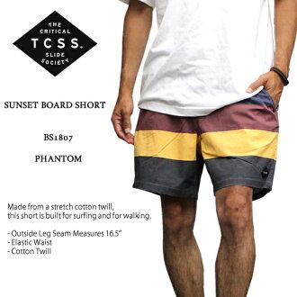 A new work! TCSS SUNSET BOARDSHORT tea sea SS half underwear BS1807 sunset board shorts swimsuit