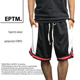 EPTM BASKETBALL SHORTS エピトミ ハーフパンツ EP8367 バスケットボール ショーツ バスパン 黒/白/赤 メンズ ファッション ストリート シンプル 春 秋 冬 スポーツ おしゃれ スケーター 部屋着 あす楽 即日発送