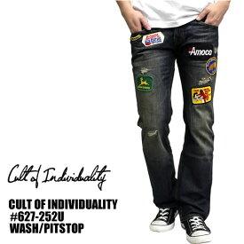 CULTOF1NDIVIDUALITY / カルトオブインディビデュアリティ デニムパンツ PITSTOP インディゴ海外 セレクトショップ ブリーチ加工 ジーンズ ジーパン スキニー