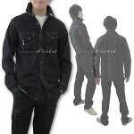アイズフロンティアジャケット#7251I'ZFRONTIERWORKDENIM3Dストレッチワークシャツブラックインディゴインディゴブルー